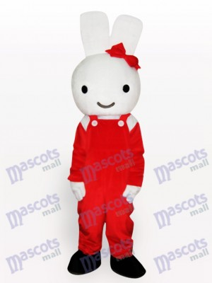 Ostern rotes Kaninchen Tier Maskottchen Kostüm
