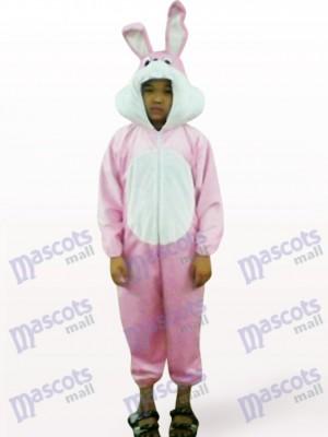 Ostern rosa Kaninchen offenes Gesicht Kinder Tier Maskottchen Kostüm