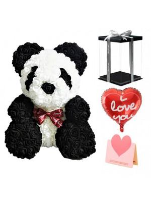 Panda Rosenbär Bestes Geschenk für Muttertag, Valentinstag, Jubiläum, Hochzeit und Geburtstag