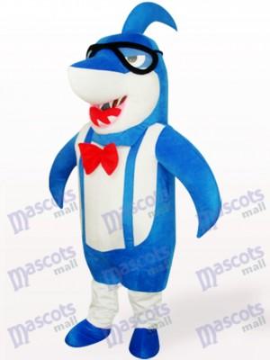 Blaue Großkopf Shark Tier Adult Maskottchen kostüm