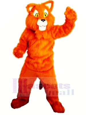 Orange Panther Maskottchen Kostüme Erwachsene