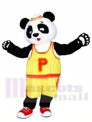 Gelbes T-Shirt Panda Maskottchen Kostüm