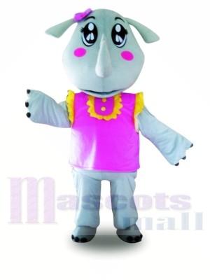 Rosa Weste Nashorn Maskottchen Kostüme