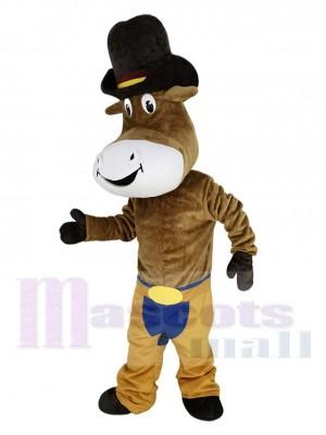 Cowboy Ochse Das Vieh maskottchen kostüm