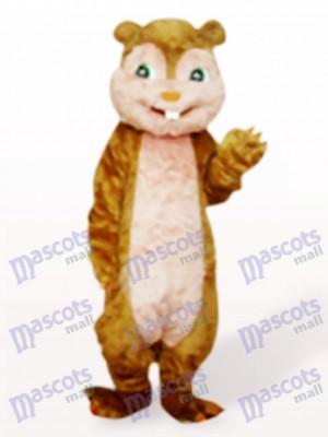 Braunen Langhaar Eichhörnchen Tier Maskottchen Kostüm