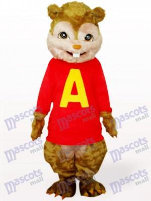 Eichhörnchen mit langen Haaren und kurzen Zähnen Tier Maskottchen Kostüm