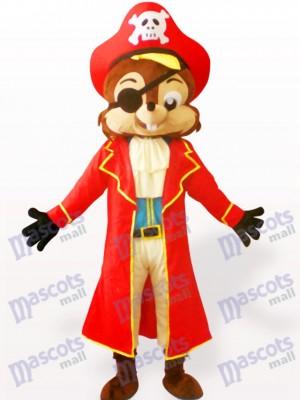 Pirat Eichhörnchen Tier Maskottchen Kostüm