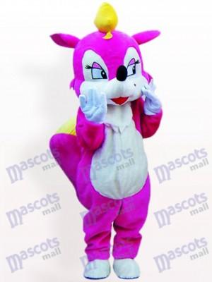 Rose Eichhörnchen Tier Maskottchen Kostüm