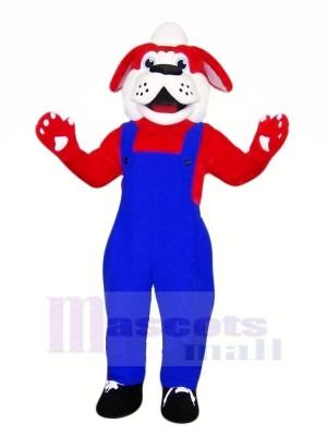 Süß rot Hund mit Schwarz Schuhe Maskottchen Kostüme Tier