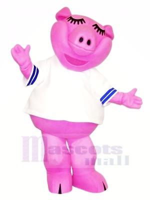 Hoch Qualität Rosa Schwein Maskottchen Kostüme Billig