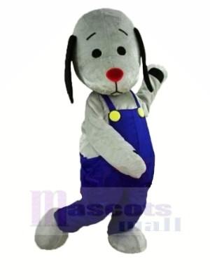 Grau Hund mit rot Nase Maskottchen Kostüme Tier