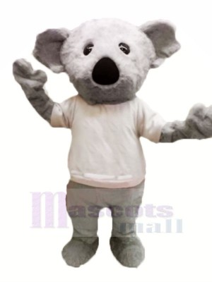 Pelzig Grau Koala Maskottchen Kostüme Karikatur