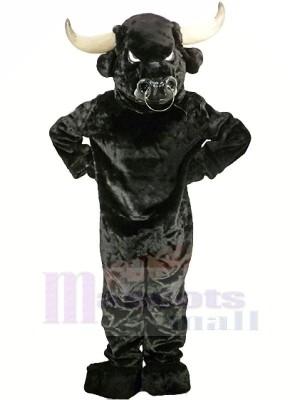 Stark Schwarz Stier Erwachsene Maskottchen Kostüme Tier