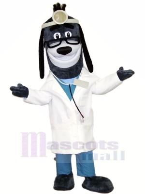 Arzt Hund mit Brille Maskottchen Kostüme Tier