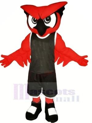 rot Eule mit Schwarz Passen Maskottchen Kostüme