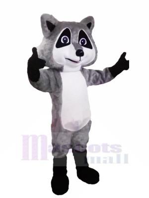 Süß Grau Waschbär Maskottchen Kostüme Karikatur