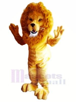 Leistung Muskulöses Leichtgewicht Löwe Maskottchen Kostüme Erwachsene
