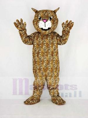Süß Braun Groß Katze Leopard Maskottchen Kostüm Karikatur