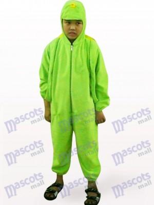Grüne Schildkröte Open Face Kinder Tier Maskottchen Kostüm