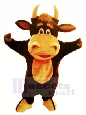 glücklich Stier Maskottchen Kostüme Karikatur