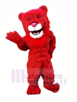Leistung rot Löwe Maskottchen Kostüme Karikatur