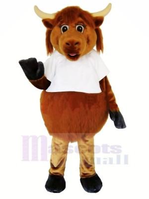 Pelzig Braun Kuh Maskottchen Kostüme Erwachsene