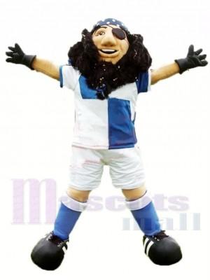 Sportlicher Piratenkapitän Maskottchen Kostüm