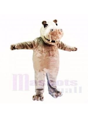 Lächelnd Freundlich Leicht Nilpferd Maskottchen Kostüme Karikatur