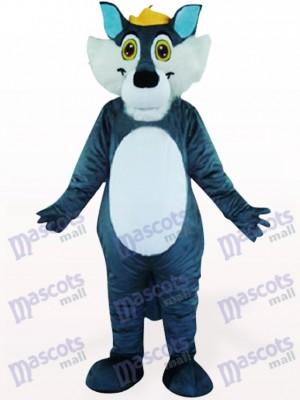 Grauer Wolf Tier Maskottchen Kostüm