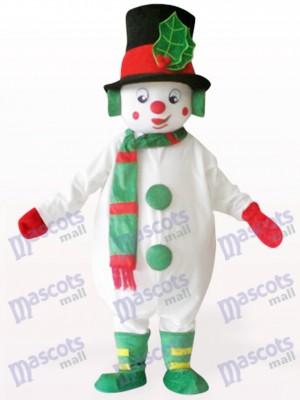 Weiße Schneemann Weihnachten Xmas Maskottchen Kostüm