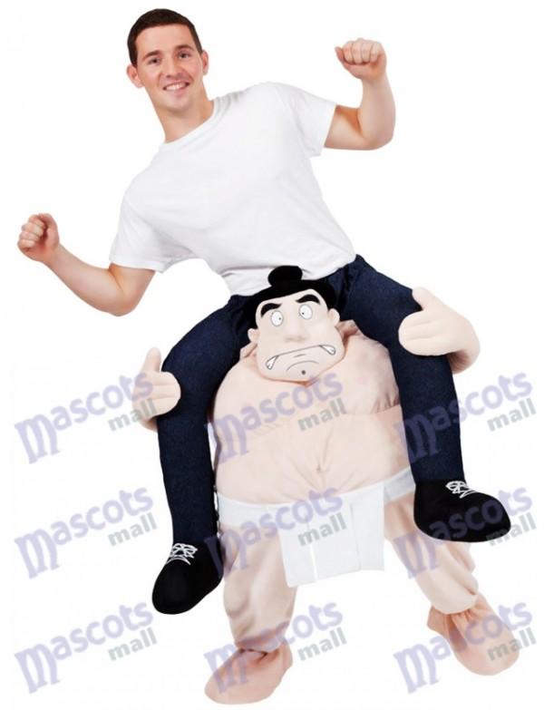 Carry Me japanische Sumo Kostüm Wrestler Fahrt auf Piggy Back Maskottchen Kostüm