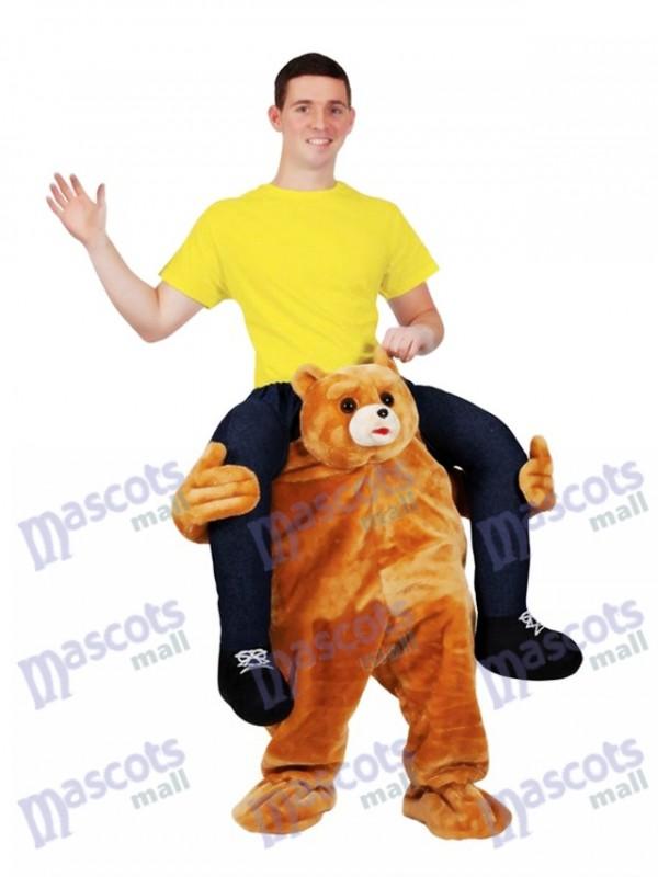 fahrt auf mich teddyb r tragen mich reiten maskottchen kost m braunb r gef llt hirsch maskottchen. Black Bedroom Furniture Sets. Home Design Ideas