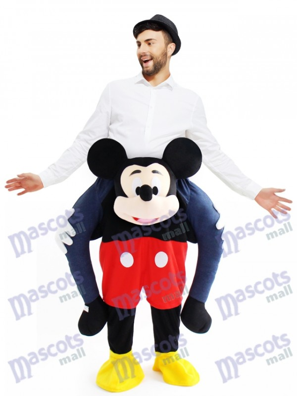 huckepack mickey mouse carry me ride maus maskottchen kost m. Black Bedroom Furniture Sets. Home Design Ideas