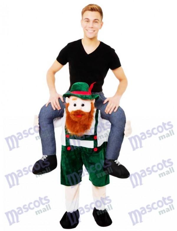 Piggy Back Carry Me Bayerischen Bier Guy Ride Maskottchen Kostüm Kostüm