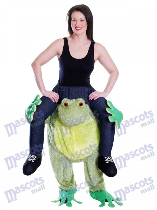 Piggy Zurück Frosch Carry Me Maskottchen Kostüm Fahrt auf Frosch Kostüm