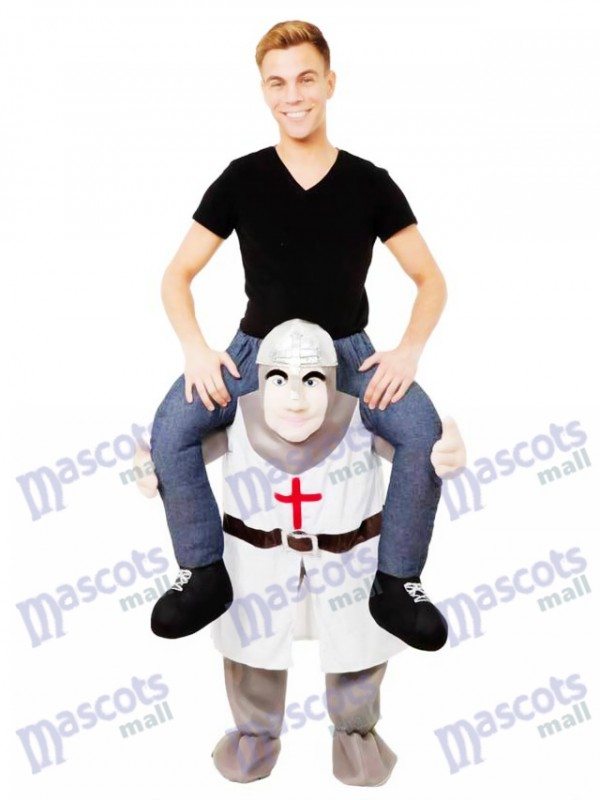 Die Kreuzfahrer Piggy Back Carry Me Maskottchen Kostüm Crusader Ritter Kostüm