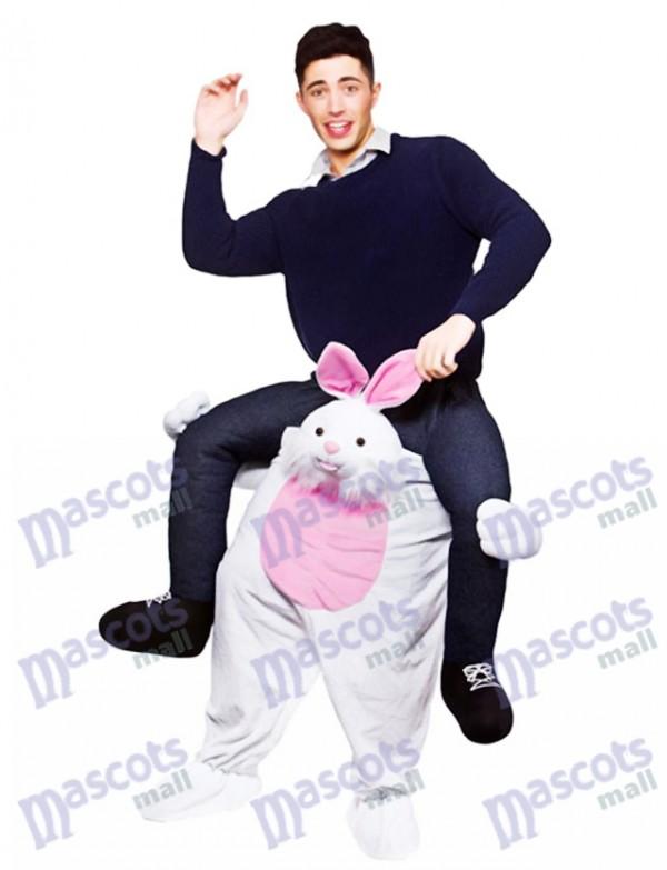 Carry Me Osterhase Piggy Back Maskottchen Erwachsene Fahrt auf lustige Kostüm