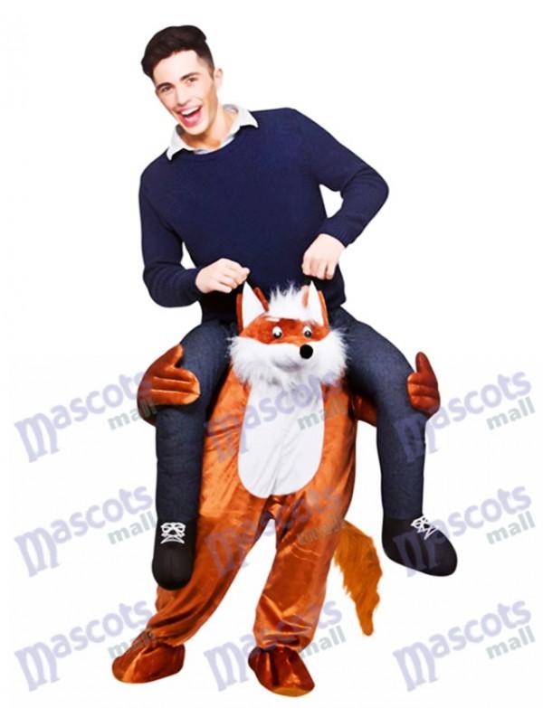 Carry Me Fantastische Fox Piggy Back Maskottchen Kostüm Fahrt auf Funny Fancy Dress