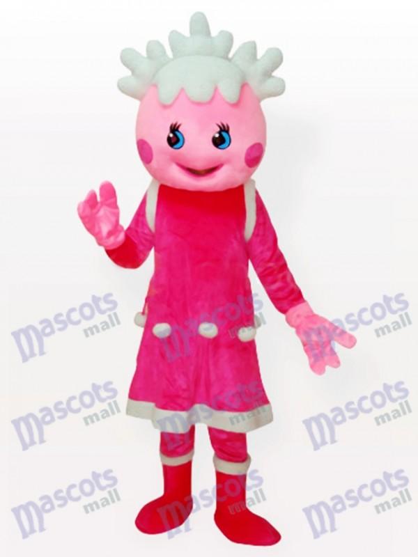 Snow Pink Adult Anime Maskottchen Kostüm