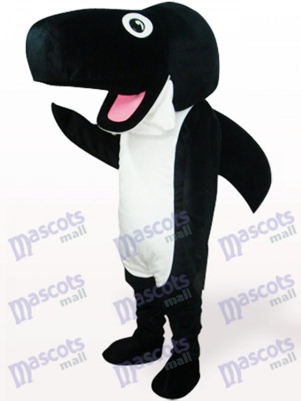 Schwarz Wal Plüsch Maskottchen Kostüm für Erwachsene