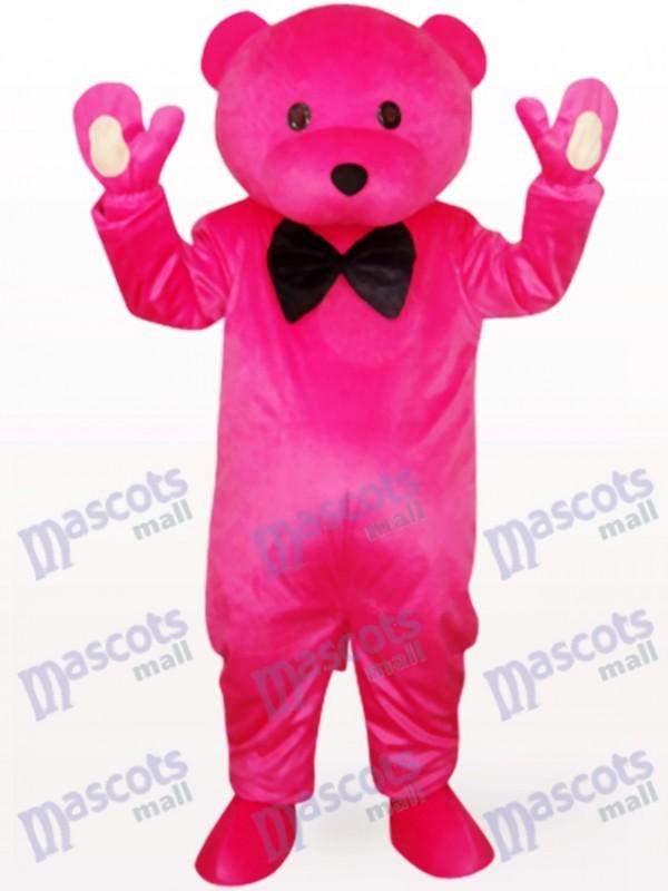 Chef Bär in Rose Kleidung Tier Maskottchen Kostüm