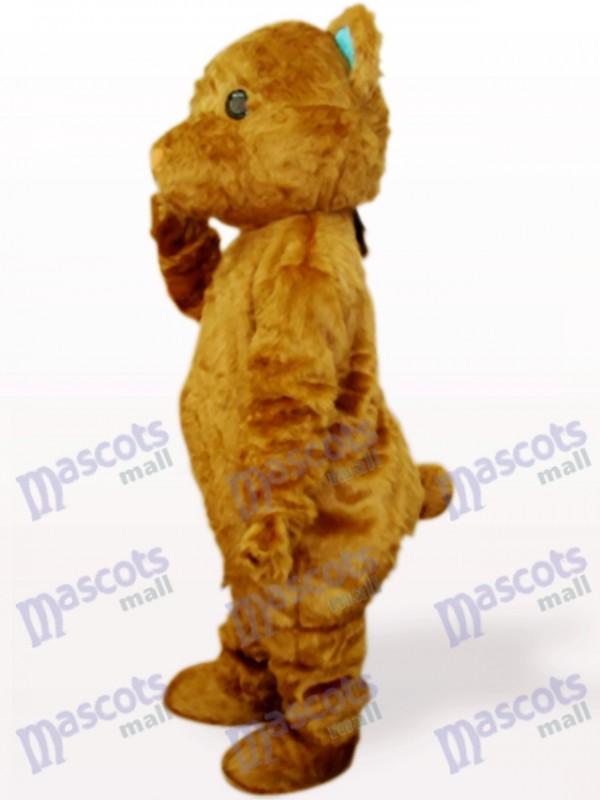 Braunes langes Haar Bär Tier Maskottchen Kostüm