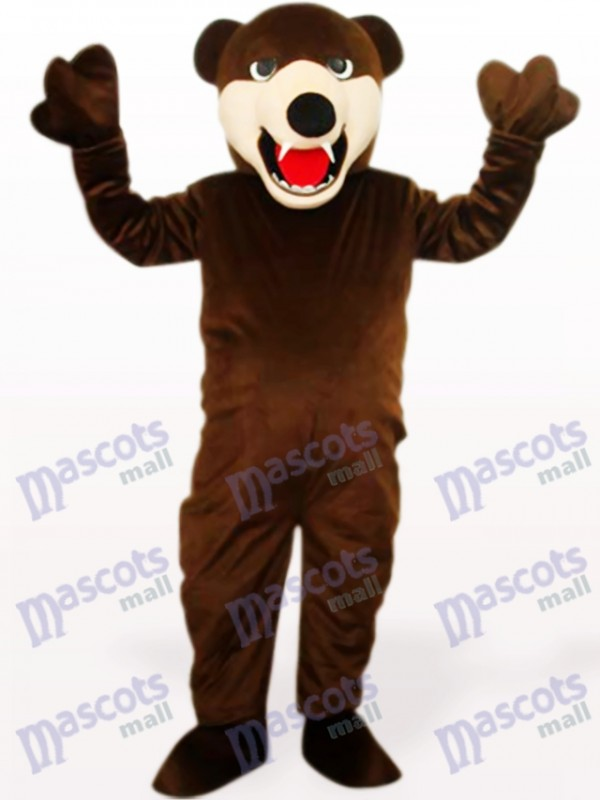 Tiefbrauner Bär Tier Maskottchen Kostüm