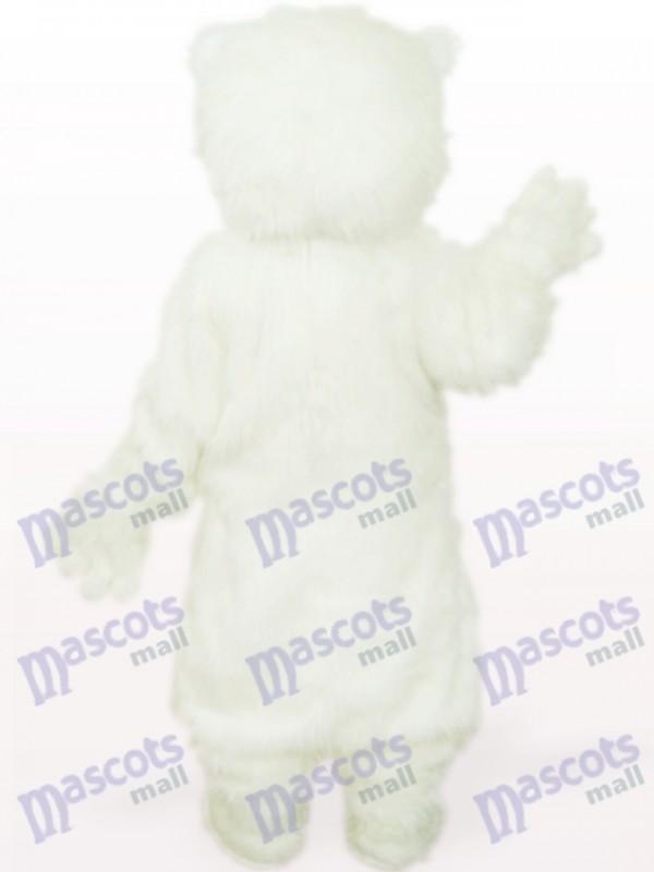 Weißes Eisbär Tier Maskottchen Kostüm