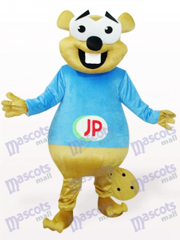 Blauer Bär mit großen Zähnen Tier Maskottchen Kostüm