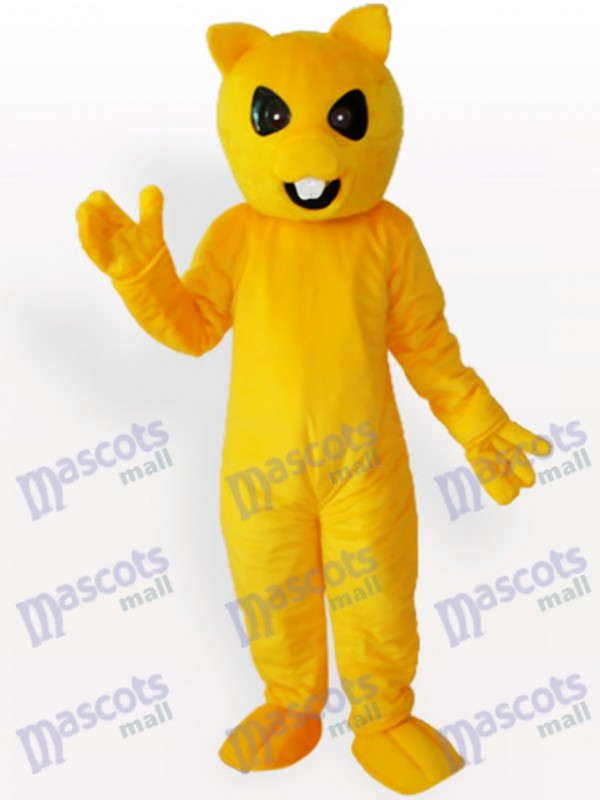 Gelber Bär Tier Maskottchen Kostüm