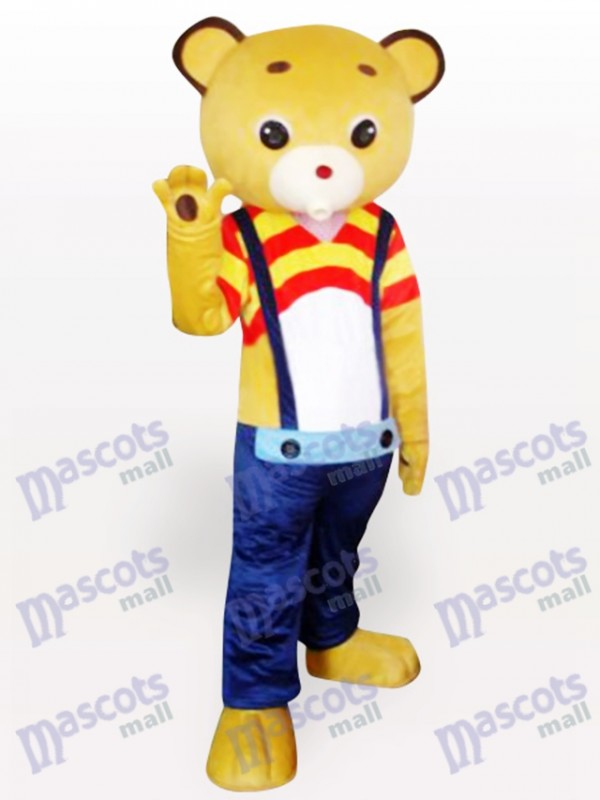 Strap Gelbbär Cartoon Maskottchen Kostüm