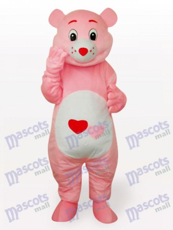 Rotes Herz Bär Anime Maskottchen Lustiges Kostüm