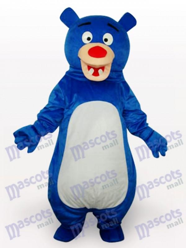 Blauer Bär Anime Maskottchen lustiges Kostüm