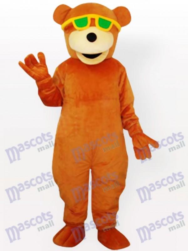 Brille mit Bären Maskottchen Kostüm